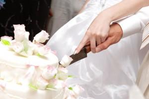 Свадебный торт белый