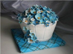 Торт «Цветок в горшке»