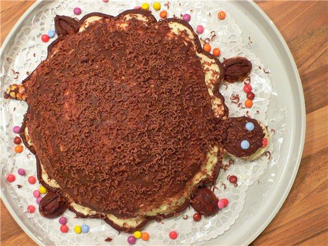 рецепт торт черепаха сметанный