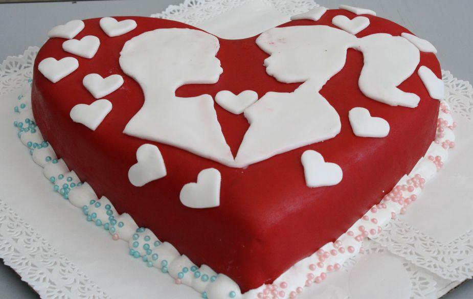 торт серце рецепт