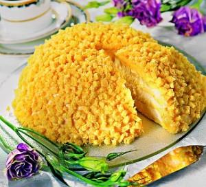 Итальянский торт Мимоза с ананасами-шаг 1