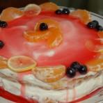 Торт Птичье молоко с фруктами