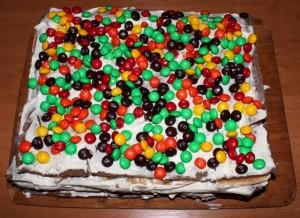 Торт из магазинных коржей Ленивец