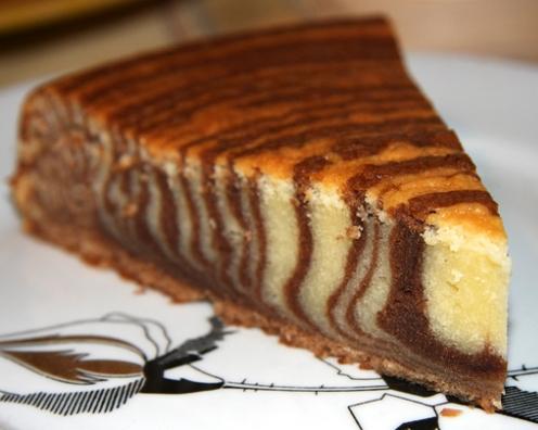 Торт Зебра с вишнями | Рецепты тортов, пошаговое ...