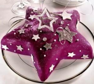 Новогодний торт из мастики Звезда