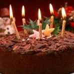 Новогодний шоколадный торт со звездочками