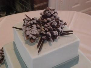 Украшения из шоколада для торта – шишки-шаг 6