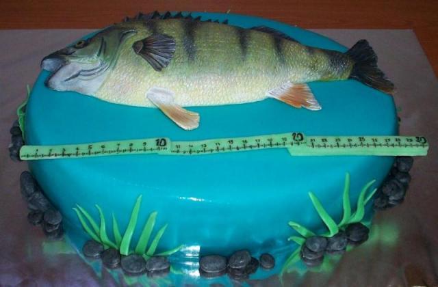 Торт из рыбок фото
