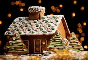 Новогодний торт из пряников Сказочная избушка-шаг 1