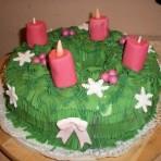 Рождественский торт Венок-шаг 1