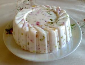 Творожный желейный торт с сухофруктами и цукатами-шаг 1