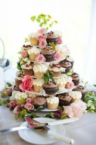 Свадебные торты из капкейков – красиво и просто!-шаг 4