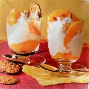 Творожный крем с персиками или абрикосами