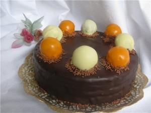 Шоколадный торт с апельсиновым ароматом