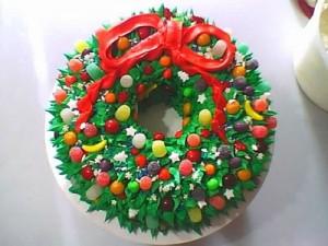 Новогодний торт Венок