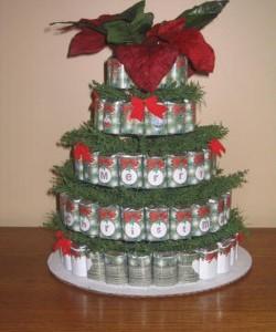 Новогодний торт из конфет в виде елочки