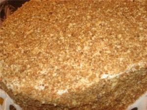 Медовый торт без выпечки – очень быстрый торт на сковороде