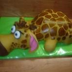 Детский торт жираф Мелман из мультфильма «Мадагаскар». Мастер-класс