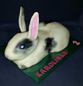 Детский торт из мастики Кролик. Мастер-класс