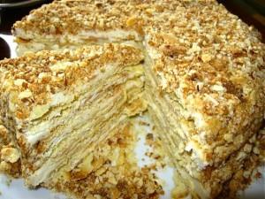 Торт Наполеон с маскарпоне – великолепный десерт для торжественного случая