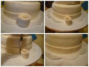 Бант из мастики для свадебного торта. Мастер-класс-шаг 2