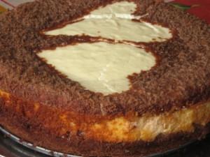 Творожный торт с яблоками Два сердца – идеальный десерт для романтического ужина