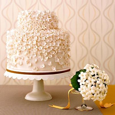 Цветы из мастики на свадебный торт
