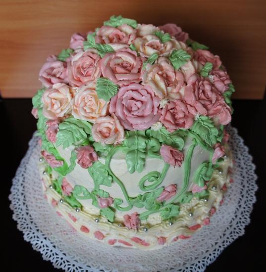 торт с масляным кремом фото