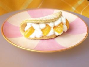 Бисквитные пирожные с мандаринами Улитки