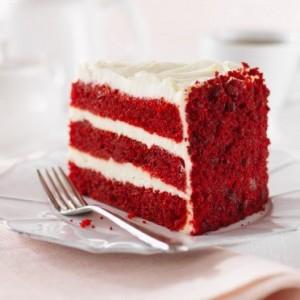 Торт на День Валентина Алое сердце-шаг 1