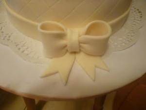 Бант из мастики для свадебного торта. Мастер-класс