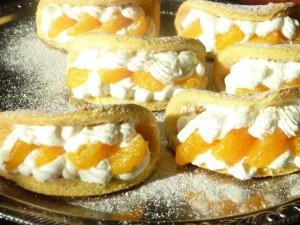 Бисквитные пирожные с мандаринами Улитки-шаг 1