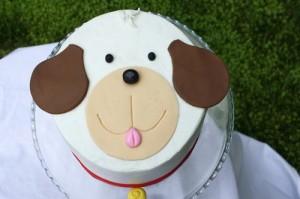 Детский торт из мастики Собачка
