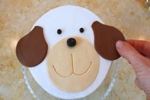 Детский торт из мастики Собачка-шаг 7