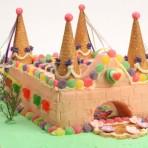 Детский торт Замок рыцарей. Как украсить-шаг 1