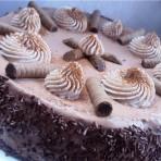 Кофейный бисквитный торт с шоколадно-творожным кремом