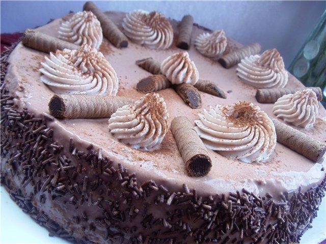 Как украсить кофейный торт фото