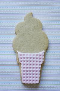 Как украсить мастикой и кремом печенье. Печень- мороженое – мастер-класс-шаг 5