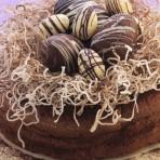 Пасхальный шоколадный торт