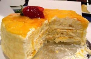 Сливочно-творожный крем с манго