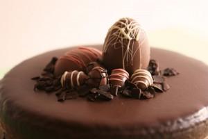 Шоколадный торт. Пасхальный торт-шаг 1