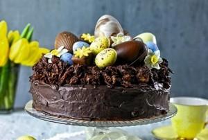 Пасхальный торт. Шоколадный торт Гнездышко