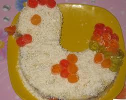 Пасхальный торт Курочка. Бисквитный торт быстрого приготовления