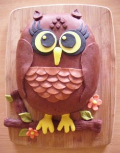 Торт из мастики Сова - 3 D торт (мастер-класс)