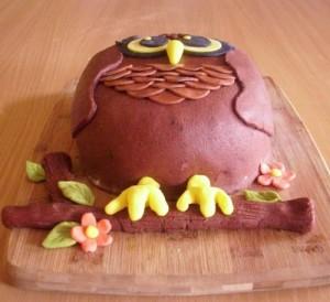 Торт из мастики Сова - 3 D торт (мастер-класс)-шаг 7