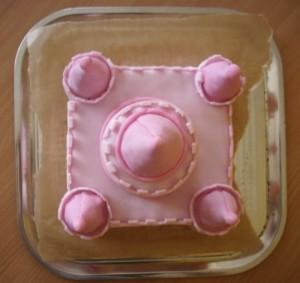 Детский торт Замок для принцессы. Торт из мастики – мастер-класс-шаг 4