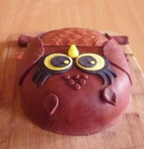 Торт из мастики Сова - 3 D торт (мастер-класс)-шаг 6