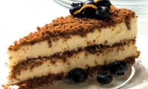 Торт из печенья с кремом из маскарпоне