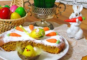Пасхальный торт с миндалем и морковью. Торт без муки