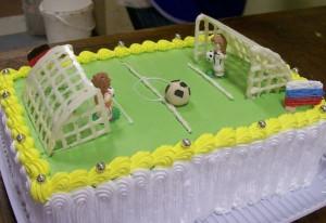 Торт футбольное поле – видео-рецепт. Как украсить торт кремом